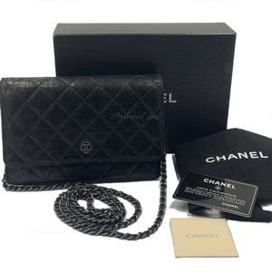 Chanel Metalli Coated Tweed WOC Flap Bag Crossbody